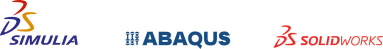 Simulia, Abaqus and SolidWorks logos
